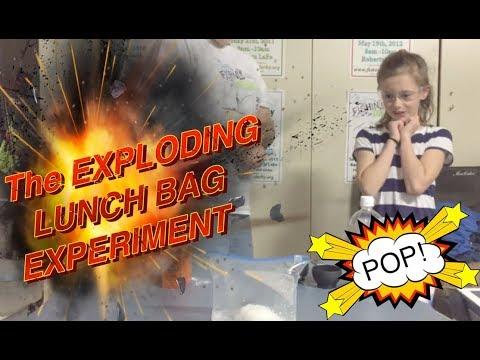 Baking Soda & vinegar exploding bag!