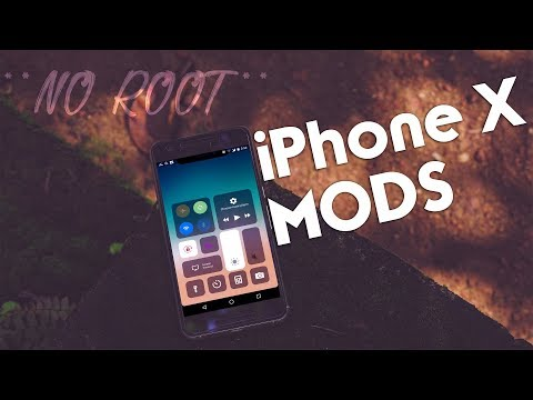 *NO ROOT* Turn Your Android to iPhone X - iPhone X iOS 11 MODs
