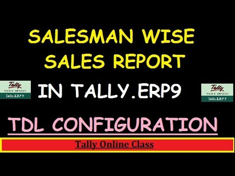 Salesman wise Sales Report in Tally.ERP9/Configure TDL