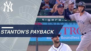 Giancarlo Stanton gets revenge on Mike Fiers