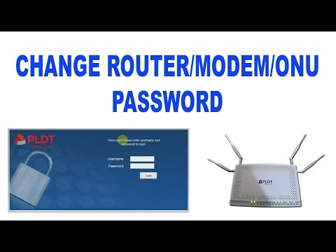 How to change  PLDT Home Fibr modem router password