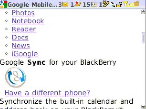 HOW TO BACKUP CONTACTS USING GOOGLE SYNC ON BLACKBERRY CURVE