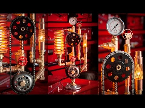 Steampunk DIY Industrial Pipe Lamp #7