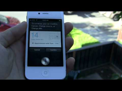 Apple iPhone 4S Siri voice control assistant demo