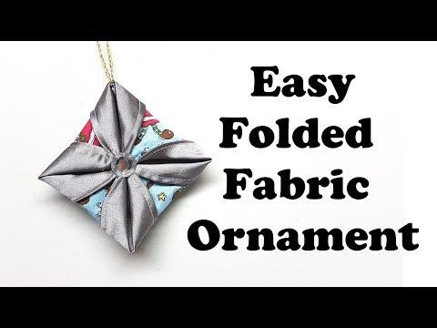 Easy Folded Fabric Ornament