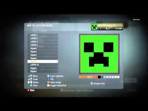 Minecraft Creeper Playercard Tutorial | Call Of Duty Black Ops