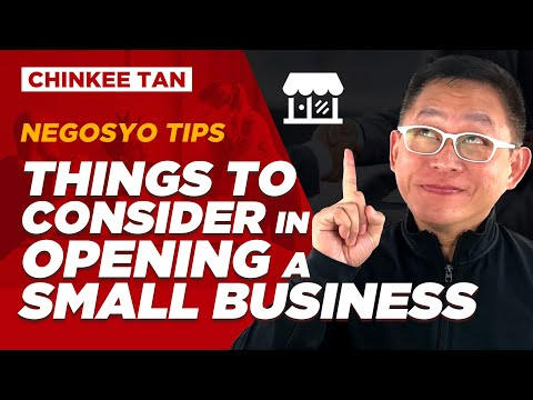 Things to Consider in Opening a Small Business