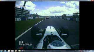 F1 2001 Silverstone Mika Hakkinen dépasse Michael Schumacher