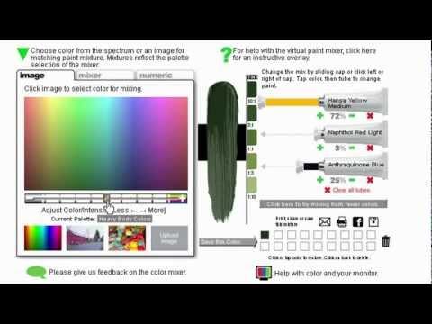 Virtual Colour Mixing Tool - Golden Acrylic