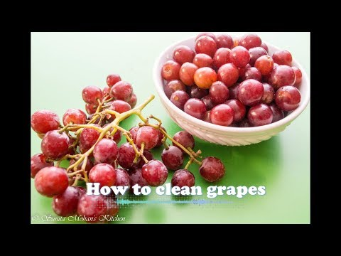How To clean & remove Chemicals From Fruits- Wash Grapes To Stay Longer & Chemical Free
