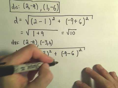 Collinearity and Distance: Determining if Three Points are Collinear, Example 2