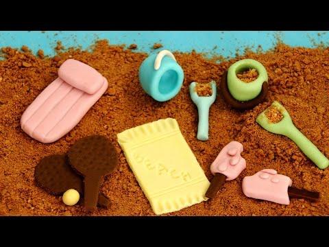 Beach Themed Fondant Cupcake Cake Decorations | HappyFoods