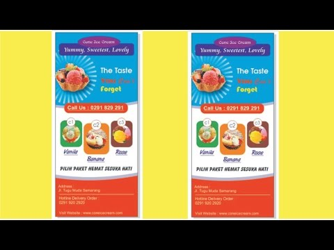 Make Design X Banner With Coreldraw (ice cream shop)