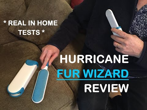 Hurricane Fur Wizard and Mini Pet Fur and Lint Remover Removal Brush UK Review - Does it work?