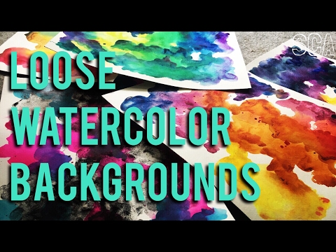 Loose Watercolor Background Techniques & Tips!