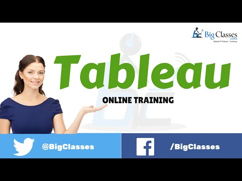Tableau Online Training Tutorial  for Beginners - bigclasses