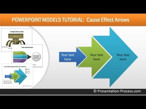 Create Cause Effect Arrows in PowerPoint : Consulting Models Series #2