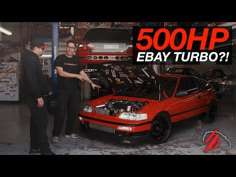 CLEAN eBay Turbo CRX Makes 500HP On A Single Cam!