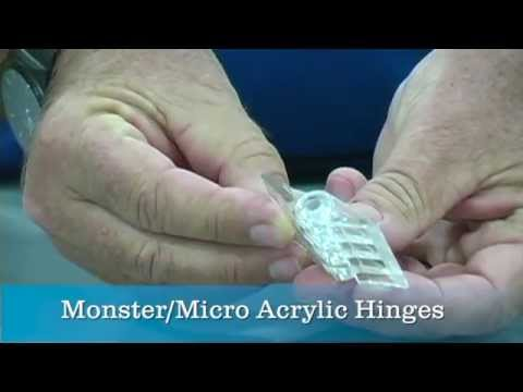 Micro Monster Acrylic Hinges