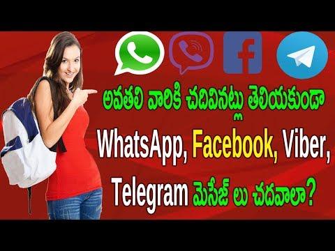How To Make Whatsapp, Facebook, Viber, Telegram Messages Unseen No Last Read   Telugu Tech Trends