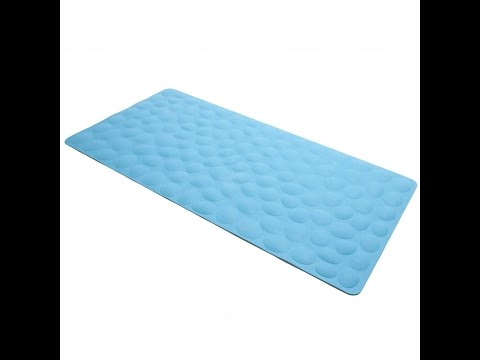 Non-slip Soft Rubber Bathtub Mat with suction cups by OTHWAY