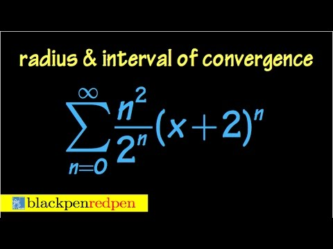 Radius and interval of convergence of a power series, using ratio test, ex#3