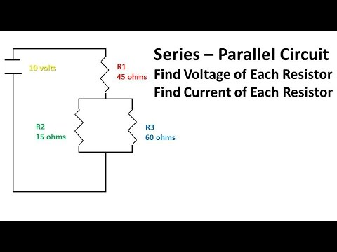 Series - Parallel Circuit (Problem and Solution Find Current and Voltages)