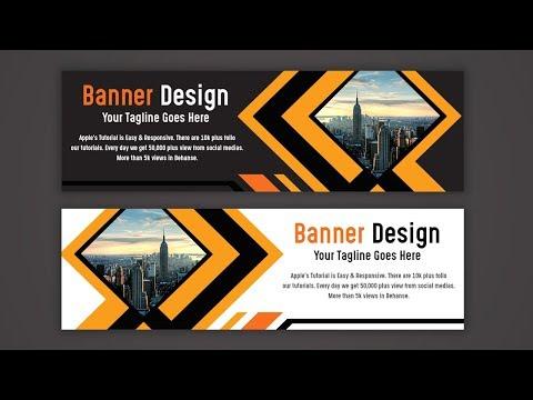 Make a Creative Web Banner AD Design - Photoshop Tutorial