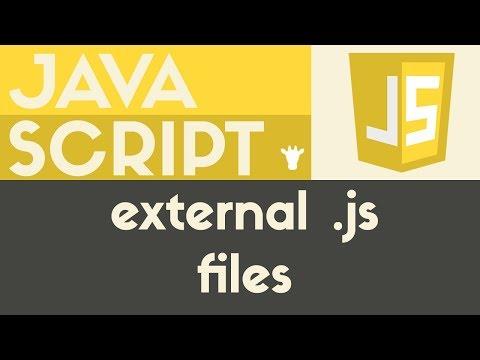Using External Files | Javascript | Tutorial 4