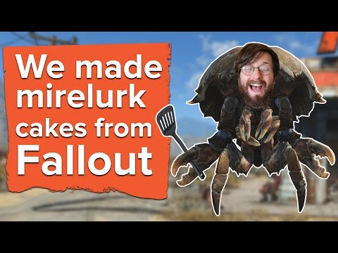 We made mirelurk cakes from Fallout