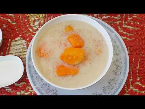 Asian- Khmer Sweet, Sweet Potato, Bobor Domloung, Sweet Potato Recipe, Food Home Made,...(Part-140)