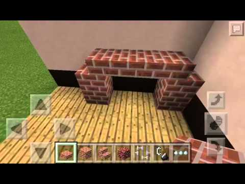 -Minecraft PE-Tutorial-How To Make A Fireplace