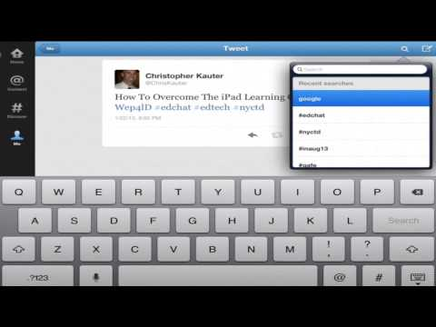 Beginners Guide to Twitter for the iPad