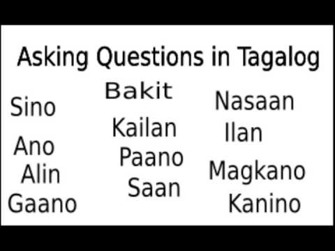 Learn Tagalog: Learning to Ask Questions in Tagalog