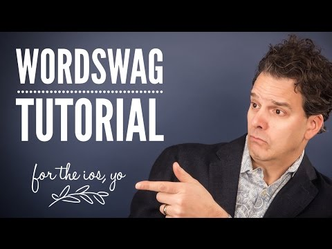 WordSwag App Tutorial - How To Use the Word Swag App - iPhone & iPad