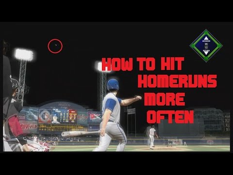 HOW TO HIT HOMERUNS MORE OFTEN IN MLB THE SHOW 17!!