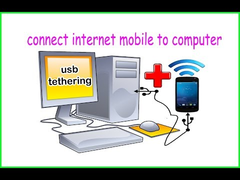 How to use internet from android phone to pc via usb tethering