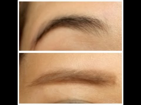 How to lighten your eyebrows and transform your arched eyebrows to straighter eyebrows