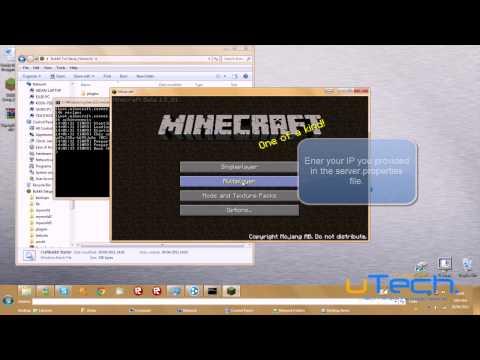 Minecraft : How to set up a Hamachi Bukkit server 1.8.1 [HD]