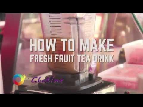 Chatime: How to make Fresh Fruit Tea Drink