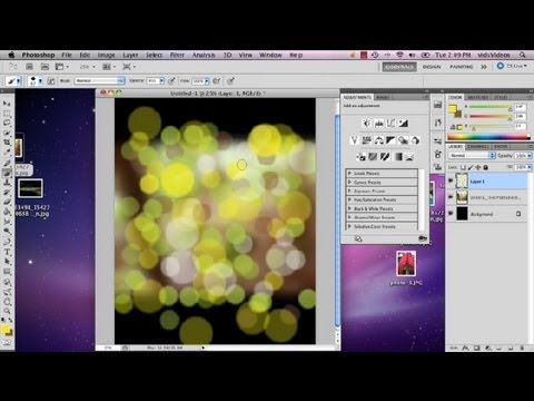 How to Make Fake Bokeh in CS5 : Advanced Photoshop CS5