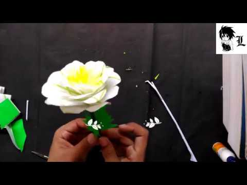 how to make easy paper flower candle decoration