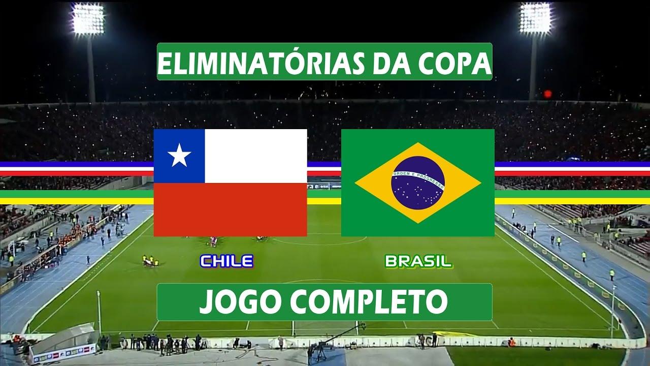 Chile x Brasil - Jogo Completo - Eliminatórias da Copa 2018 (08/10/2015)
