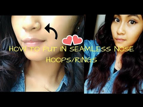 HOW TO PUT IN SEAMLESS NOSE HOOP/RINGS