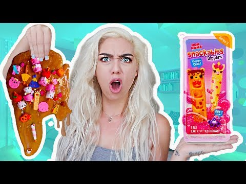$100+ NUM NOM SNACKABLES SLIME DIPPERS SLIME SMOOTHIE! GIANT STOREBOUGHT SECNETED SLIME SMOOTHIE