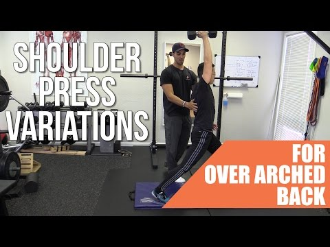 How to stop back arching in the overhead press