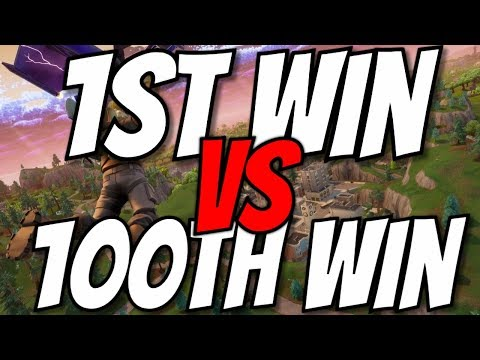 1st Solo Win VS 100th Solo Win (Is There A Difference?) *FORTNITE BR*