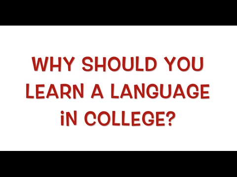 Why you should learn a language in college
