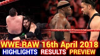 WWE Monday Night Raw 16th April 2018 Hindi Highlights Preview - Brock Lesnar vs Roman Reigns Results