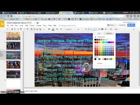 Google Slides  Changing Text Background Color
